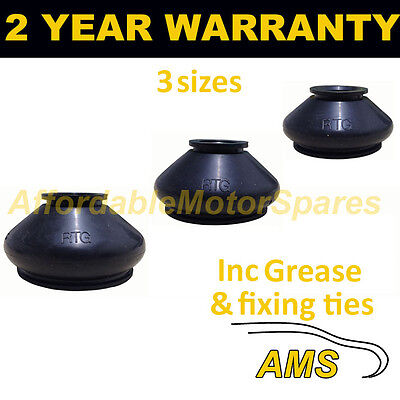 Universal Ball Joint Track Rod End Rubber Dust Cover Kit + Grease Fits All Cars • 7.99£