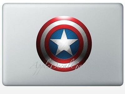 $9.99 • Buy Captain America Shield Decal Sticker Skin For Macbook Pro Air 11 13 15 17 In SD
