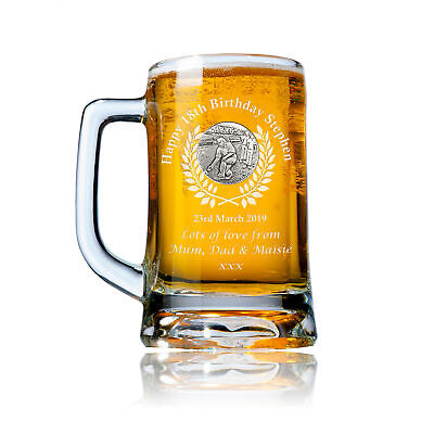 Lawn Bowling 18th Birthday Gift Engraved Pint Tankard Lager Ale Glass Beer Mug • 24.99£