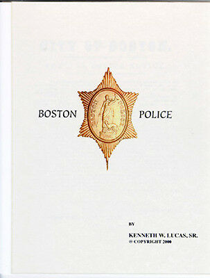 £10.86 • Buy BOSTON POLICE CHRONOLOGY OF BADGES,  Booklet By LUCAS