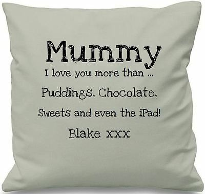 Luxury Personalised Cushion Covers Mummy I Love You More Than Mothers Day Gift • 8.99£