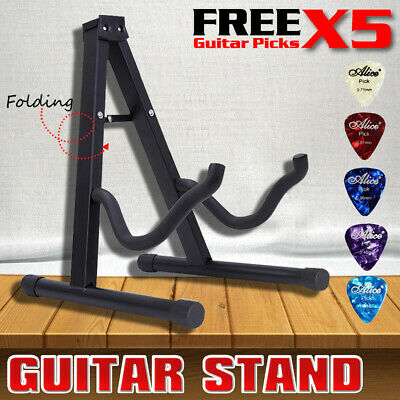 AU20.99 • Buy Portable Folding Electric Acoustic Bass Guitar Stand A Frame Floor Rack Holder