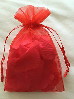 Bag Of Bed Confetti Silk Rose Petals Valentines Day Roses Romantic Wedding Gift  • 2.49£