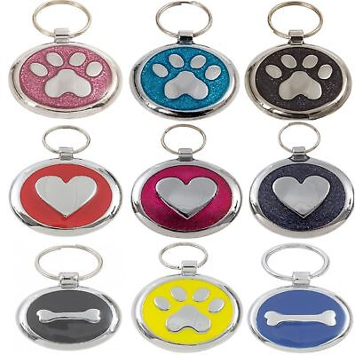 Personalised Premium Engraved Pet Tags DOG ID Custom Disc Disk Quality Puppy Cat • 3.99£