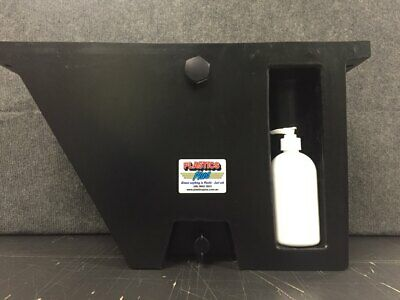 AU169 • Buy Vehicle Water Tank With Soap Dispenser (25L) Under Tray Ute Tank Angled Black RH