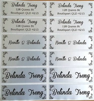 AU5.99 • Buy 56 Light Silver Personalised Name Labels -  Large (46*15mm)