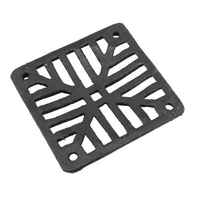 £7.95 • Buy Black Cast Grate Cover Square Drain Man Hole Gully Grid Covers 5  7  9  12