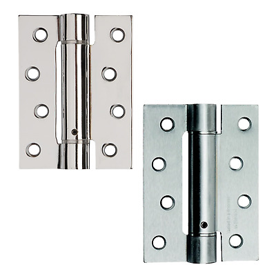 Single Action Fire Rated Door Hinges Self Closing Adjustable Spring Chrome • 17.95£
