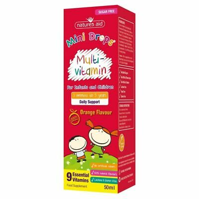 Natures Aid Multi-Vitamin Drops For 3+months Infants And 5 Years Children 50ml • 8.38£
