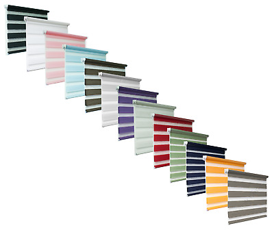 Day And Night Zebra/Vision Window Roller Blinds 13 Colours, 19 Sizes, 150cm Drop • 35.90£