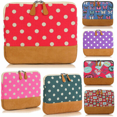 Polka Dots Padded Pouch Sleeve Carry Case Cover Stand For Apple IPad 2 3 4 Air 1 • 6.95£