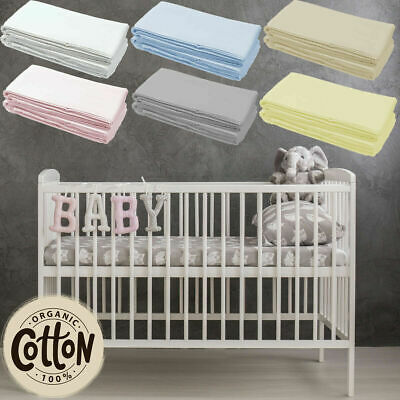 Jersey Fitted Sheet Cotton Moses Basket Crib Cot Bed Toddler Travel Next 2 Me • 8.40£