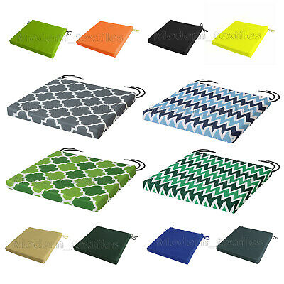 £8.99 • Buy WATERPROOF Chair Cushion Seat Pads REMOVABLE COVER Patio Tie On Garden OUTDOOR