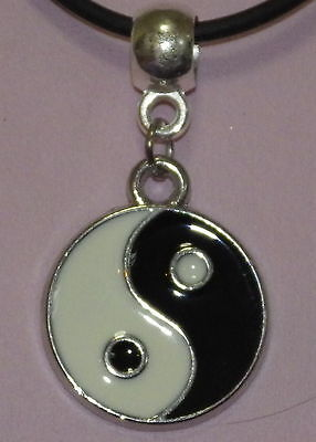 AU9.95 • Buy New Allow Yin Yang Pendant On An Oilskin Necklace