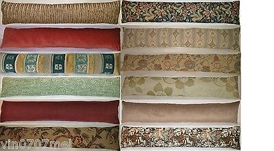 "Fabric Door Cushion Draught Excluder 36"" X 7 ¼"" Chenille Cotton Mix & Tapestry  • 21.99£"