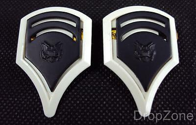 NEW Pair Of US Army Sergeant Insignia Collar Dogs / Badges Subdued • 5.99£