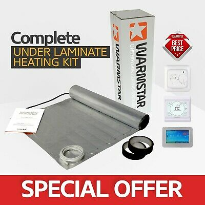 Electric Foil Underfloor Heating Mat Kit For Under Wood And Laminate - All Sizes • 44£