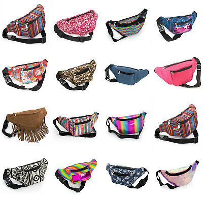 £7.49 • Buy Bum Bag Fanny Pack Travel Waist Festival Money Belt Leather Pouch Holiday Wallet
