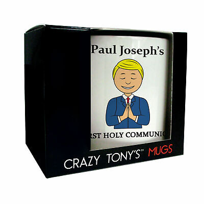 Personalised Gift For Boys First Holy Communion, Crazy Tony's, 1st Communion Mug • 11.94£
