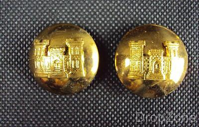 Pair Of US Military Army 1950's Engineers Or Other Ranks Insignia Collar Dogs • 5.99£