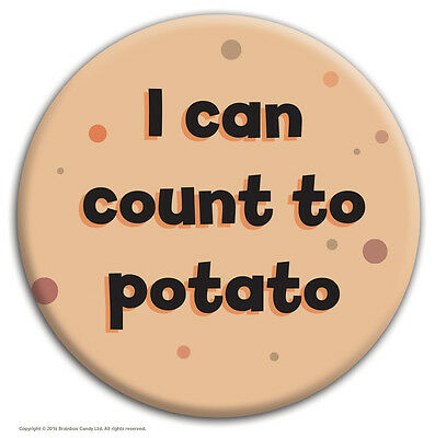 Brainbox Candy  Count To Potato  Badge Funny Rude Hen Stag Do Cheap Gift Cheeky • 1.59£