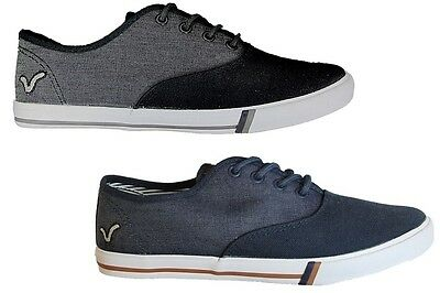 Voi Mens Canvas Shoes Lace Up Plimsolls Gym Trainers Pumps Shoes Sneakers • 11.99£