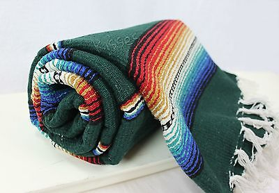 Mexican Serape Blanket Beach Yoga Sarape Throw Zarape New Rug Southwestern • 14.71£