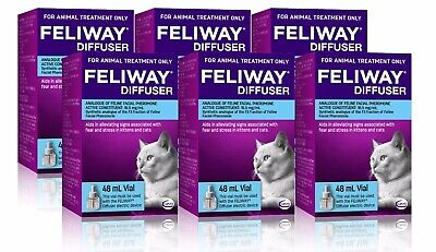 AU209.77 • Buy Feliway 48mL Diffuser Refill 6 Pack - Constant Calming And Comfort For Cats