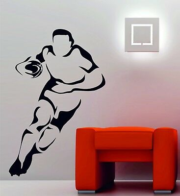 £9.84 • Buy Rugby Player Decorative Vinyl Wall Sport Art Sticker Decal Bedroom