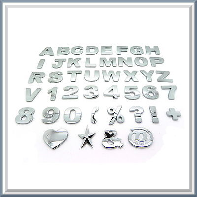 £1.49 • Buy Chrome Letters, Digits And Signs / 3D Self-Adhesive Stickers / Decals