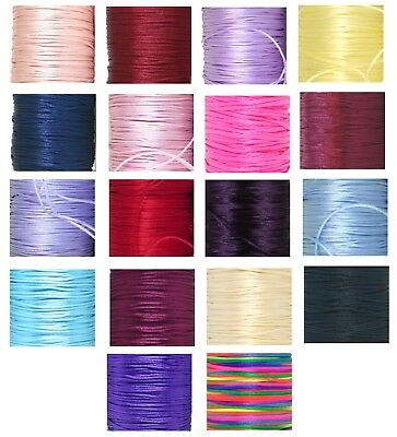 2mm Rattail-rats Tail-silky -cord-braiding-macrame-gift Wrap-knotting • 1.49£
