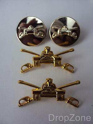 US Army Military Armor Corps Collar Insignia Officer's Or Enlisted Badges • 6.99£