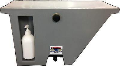 AU169 • Buy Vehicle Water Tank With Soap Dispenser (25L) Under Tray Ute Tank Angled GREY LH