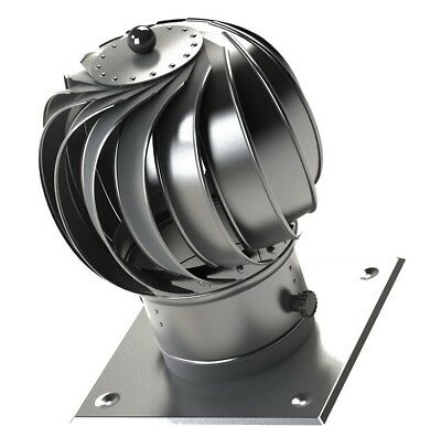 Stainless Steel Spinner Spinning Chimney Cowl Rotating Pot Roof Top Head Bumpers • 45.99£