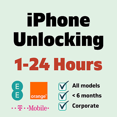 £10.99 • Buy Factory Unlock Service For IPhone X XS Max XR On Orange EE T-Mobile UK