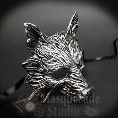 £14.49 • Buy Wolf Animal Spirit Wall Decoration Costume Party Masquerade Mask [Silver]