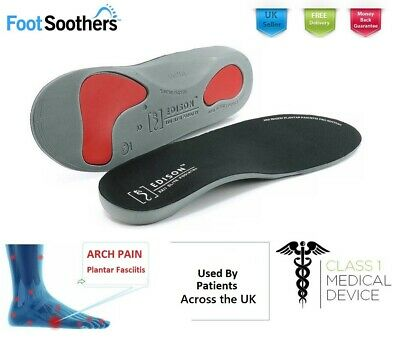 Orthotic Shoe Insoles Arch Support Plantar Fasciitis Flat Feet Back Heel Pain • 5.49£