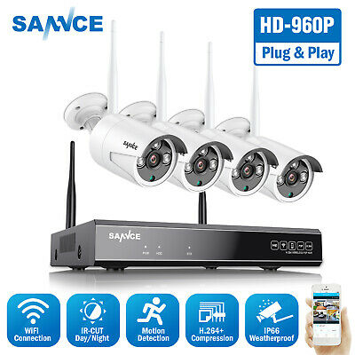 AU209.99 • Buy SANNCE Wireless 8CH 1080P NVR 2MP Outdoor Security Camera System IR Night Vision