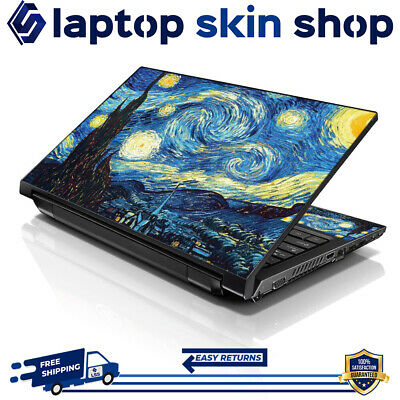 £7.93 • Buy Laptop Sticker Skin Protective Notebook Vinyl Decal Starry Night 13-16.5 Inch