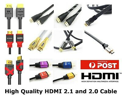 AU7.99 • Buy Premium HDMI Cable V2.0 Gold Plated High Speed Audio 3D 4K Ultra HD 0.5m ~ 20m