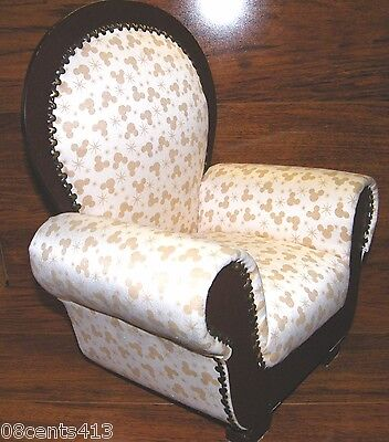 £180.22 • Buy Disney's Mickey Mouse Print Miniature Wooden & Polyester Stuffed Antique Chair