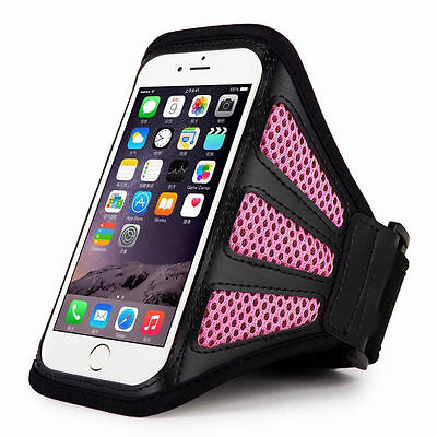 IPhone 6 4.7  Pink Mesh Running, Jogging, Cycling Armband Mobile Phone Cover • 1.49£