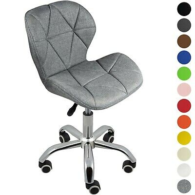 £39.99 • Buy Cushioned Computer Desk Office Chair Chrome Legs Lift Swivel Small Adjustable