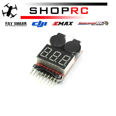 £3.95 • Buy RC Lipo Battery Low Voltage Alarm 1S-8S Buzzer Indicator Checker Tester LED