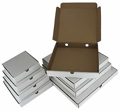 Pizza Boxes ☆ Takeaway Fast Food Cake Packaging White ☆ Size Range: 7 - 16 Inch • 9.01£