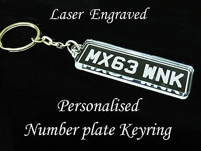£2.99 • Buy Personalised Vehicle Registration / Number Plate Keyring - Great Little Gift