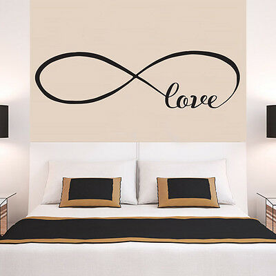 INFINITY LOVE Faithfulness Quote Wall Stickers Bedroom Removable Decals DIY • 3.99£