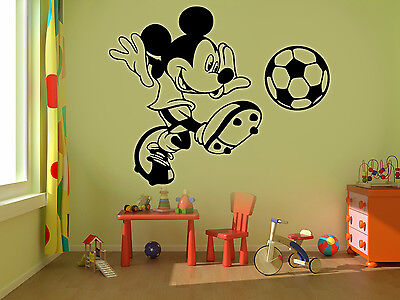 Mickey Mouse Football Kids Disney Wall Stickers Art Room Removable Decals DIY • 4.89£