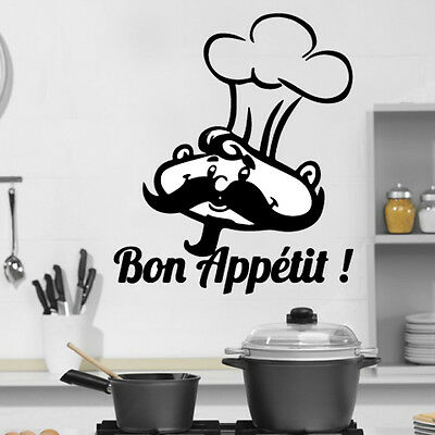 Kitchen Cook Bon Appetit Quote Wall Stickers Art Dining Room Removable Decal DIY • 4.19£