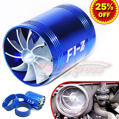 $19.86 • Buy For FORD Supercharger COLD AIR INTAKE TURBO DUAL Gas Fuel Saver Fan BL 2.5-3.0